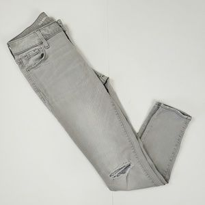 Old Navy | Gray Rockstar Midrise Skinny Jeans 2